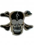 Aufnäher Skull and Bones gold