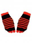 Multi Handschuhe neon orange gestreift 2 in 1
