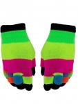 Multi Handschuhe bunt farbig 2 in 1