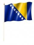 Stockfahne Bosnien Herzegowina