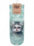 Sneaker Socken bedruckt Katzenbaby