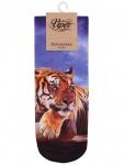 Sneaker Socken bedruckt Tiger