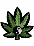 Aufnäher Cannabis Yin Yang