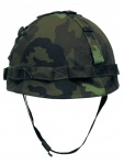 US Helm mit Stoffbezug CZ tarn