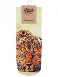 Sneaker Socken bedruckt Gepard liegend