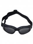 Bikerbrille schwarz getönte Gläser