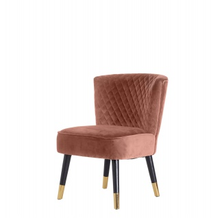 Velours Sessel Grit rosa Relaxsessel Polstersessel Clubsessel Vintage Lounge
