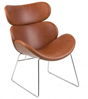 PKline Sessel CAZY in Vintage-Cognac Relaxsessel Loungesessel Fernsehsessel