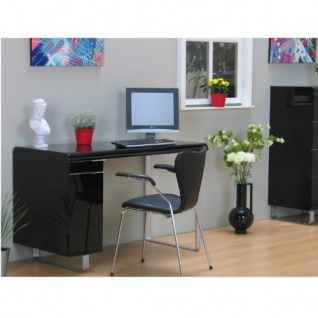 schreibtisch milano computer pc tisch b rotisch arbeitstisch schwarz hochglanz kaufen bei dtg. Black Bedroom Furniture Sets. Home Design Ideas
