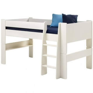 MOLLY KIDS halbhohes Bett 90 x 200 inkl. Lattenrost Bettgestell Jugendbett Bett