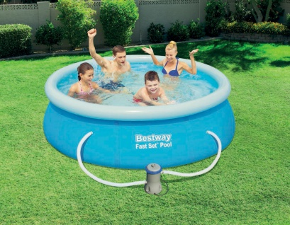 Fast Set Pool 244x66cm Quick Up Swimming Pool Becken Planschbecken