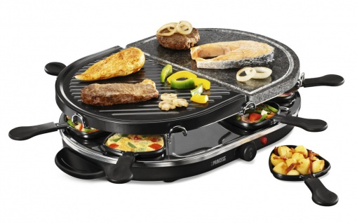 3in1 Family Funcook Set Raclette Tischgrill heißer Stein Elektrogrill Grill