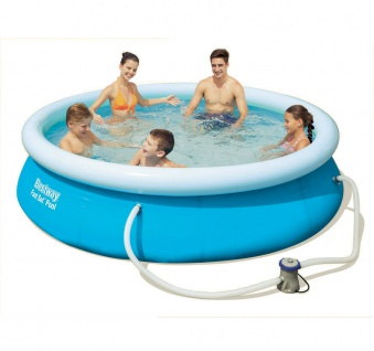 Fast Set Pool 305x76cm Quick Up Swimming Pool Becken Planschbecken