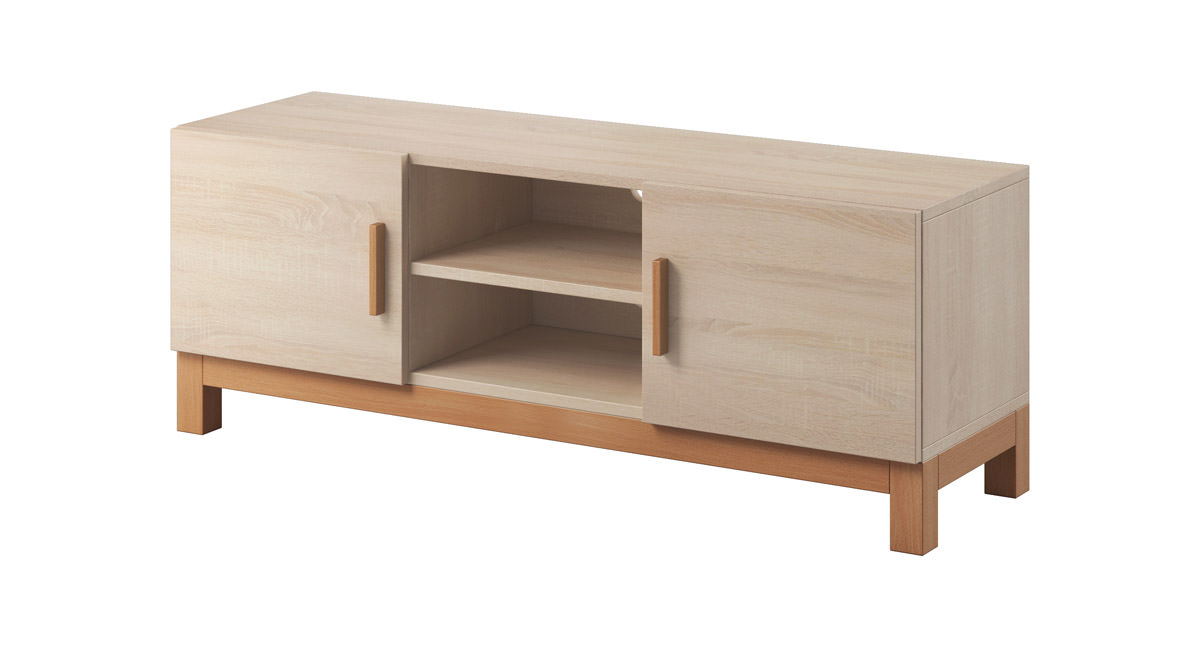 tv board fernsehtisch sideboard kommode holz lowboard holz. Black Bedroom Furniture Sets. Home Design Ideas