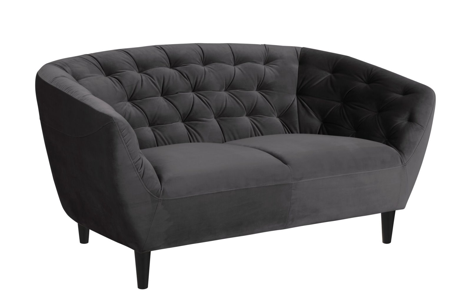sofa rian 2 sitzer in dunkelgrau couch 2 personen. Black Bedroom Furniture Sets. Home Design Ideas