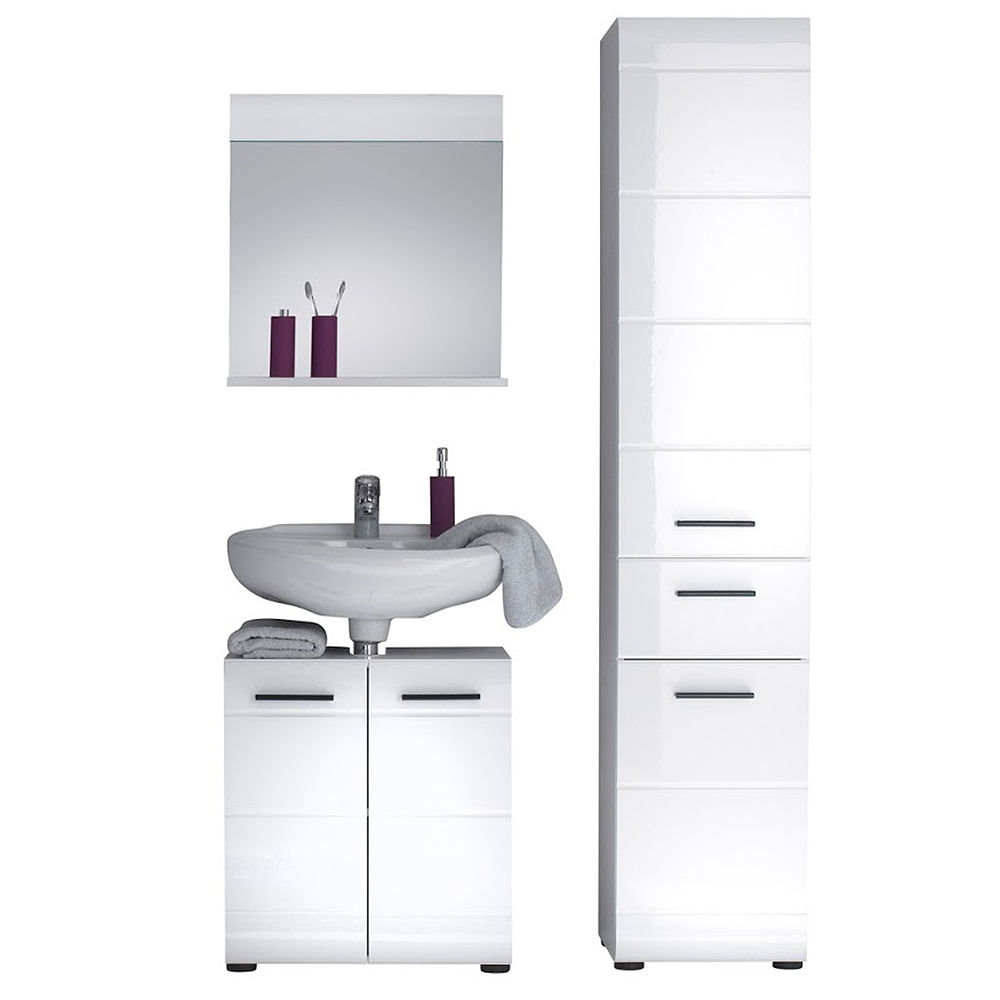 Best Finest Badmbel Skingloss Bad Wei Hochglanz Kombination Set Badezimmer  Schrank Mbel With Bad Mbel Set With Badmbel Taupe