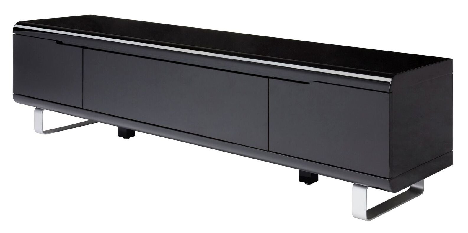 tv lowboard spacy hochglanz schwarz kommode sideboard. Black Bedroom Furniture Sets. Home Design Ideas
