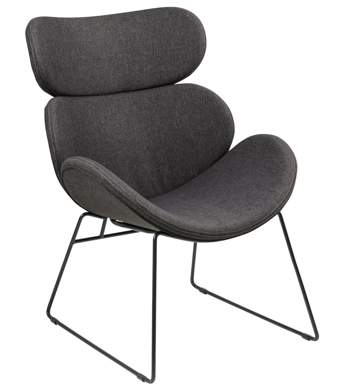 Clubsessel grau  PKline Sessel CAZY in grau Relaxsessel Loungesessel Clubsessel ...