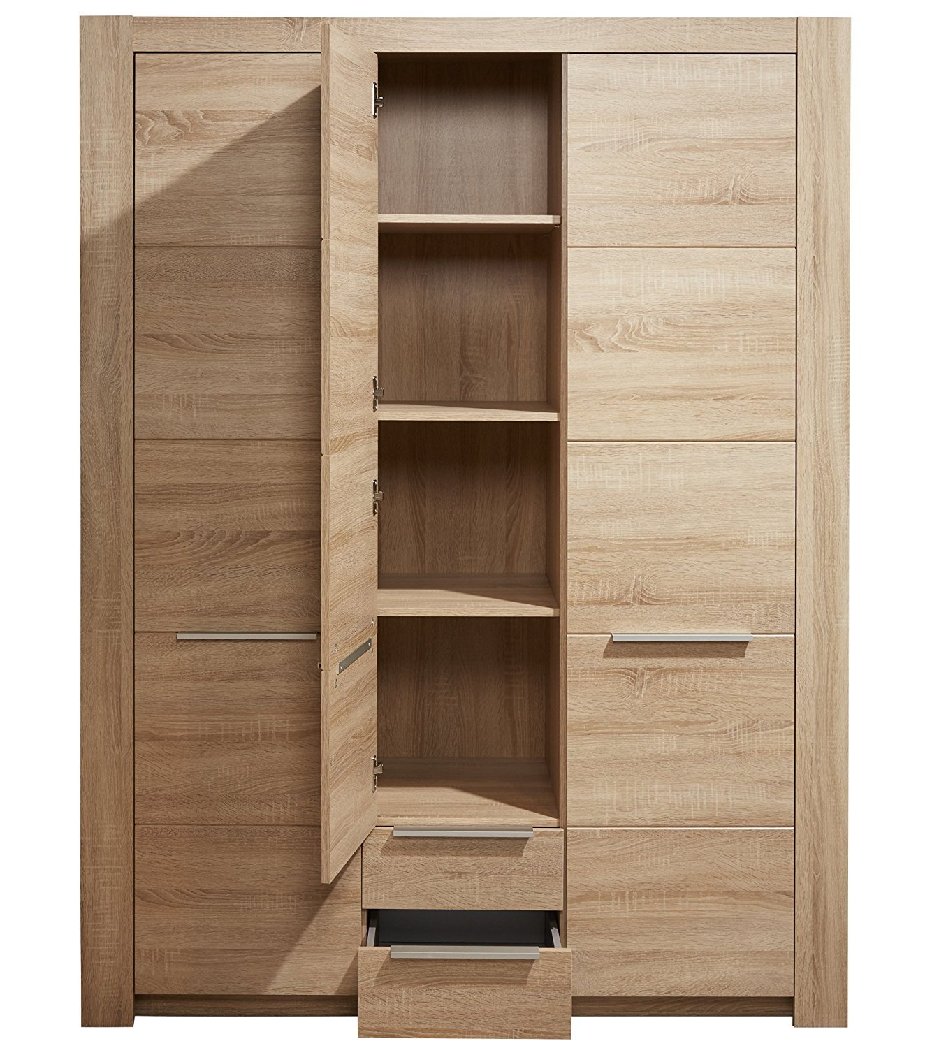 3trg kleiderschrank carlotta eiche sonoma hell kinder baby. Black Bedroom Furniture Sets. Home Design Ideas