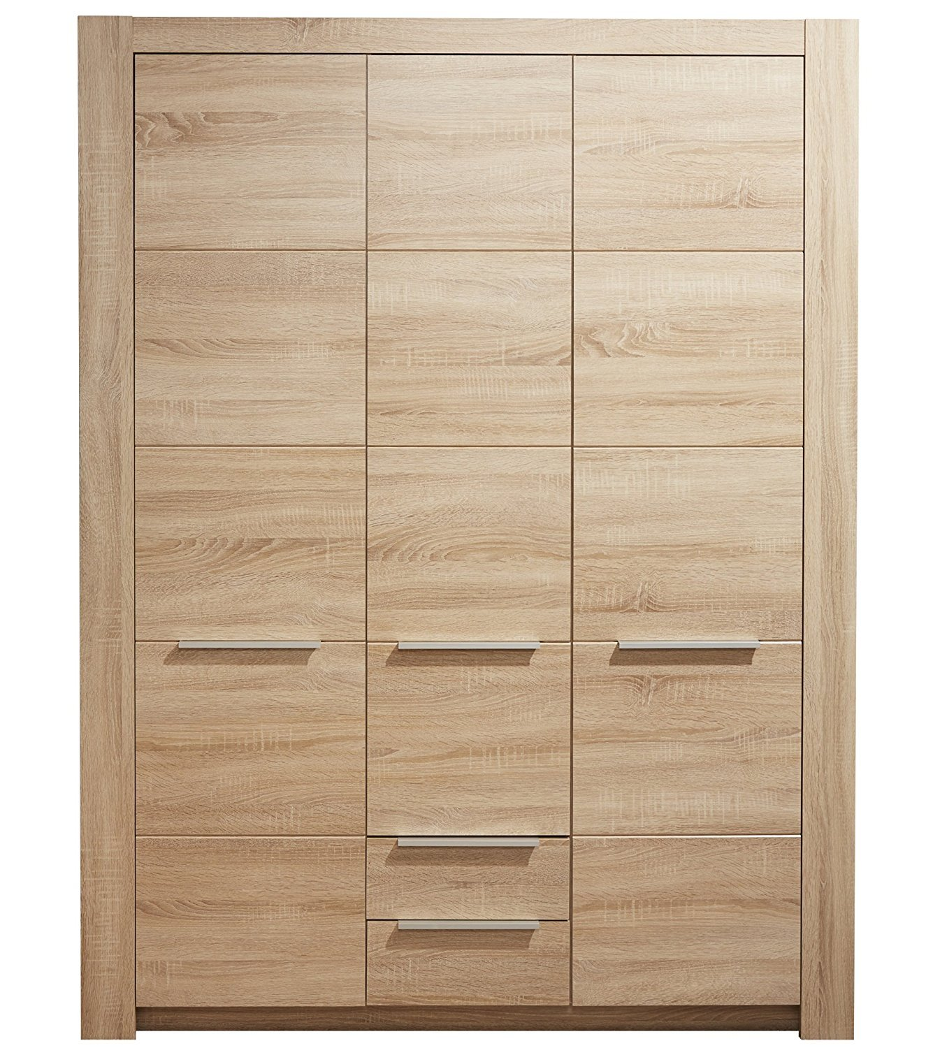3trg kleiderschrank carlotta eiche sonoma hell kinder baby zimmer schrank m bel kaufen bei dtg. Black Bedroom Furniture Sets. Home Design Ideas