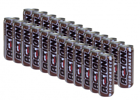 24x Action ISO Orange Drink inkl Pfand Energy isotonisches Sport Getränk a 315ml