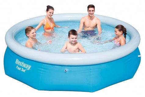 Fast Set Pool 305x76cm Quick Up Swimming Pool Family Schwimmbecken Planschbecken