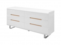 Kommode Spacy Hochglanz weiß Sideboard Schubladen Schrank Highboard