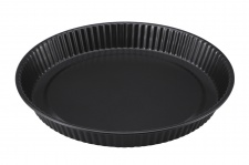 Carbon Stahl Tarte Form Ø 27 cm Kuchenform Pizza Backform Quiche Obstkuchenform