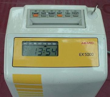 Farbband für AMANO Stempeluhr EX 5000 - Vorschau 2