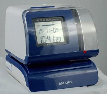 Amano Zeitstempler PIX 200 DCF77