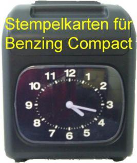 Stempelkarten für BENZING Compact II