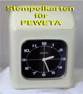 Stempelkarten für PEWETA EX 3000