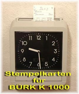 Stempelkarten für BÜRK K1000