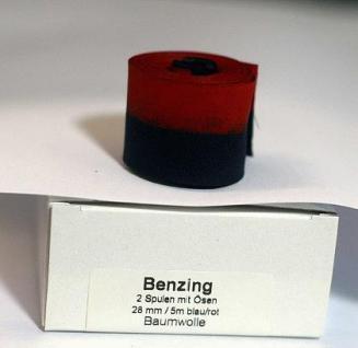 Farbband für Stempeluhr Benzing KA 1000 Blau Rot - Vorschau 4