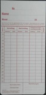 Stempelkarten für Tenocard 05 10 15 - Vorschau 3