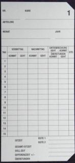 Stempelkarten für SEIKO QR 120 - Vorschau 2