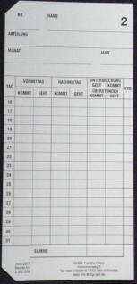 Stempelkarten für PEWETA EX 3000 - Vorschau 3