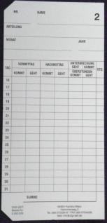 Stempelkarten für SEIKO QR 120 - Vorschau 3