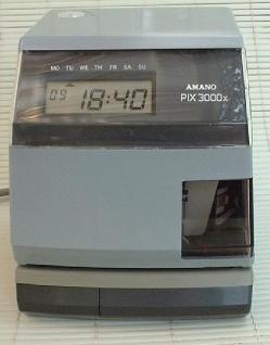 Farbband für Amano Zeitstempler PIX 3000