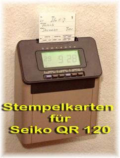 Stempelkarten für SEIKO QR 120