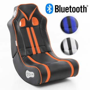 WOHNLING® Soundchair NINJA mit Bluetooth | Musiksessel mit eingebauten Lautsprechern | Multimediasessel für Gamer | 2.1 Soundsystem - Subwoofer | Music Gaming Sessel Rocker Chair
