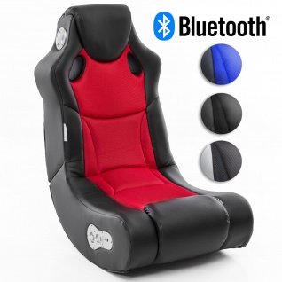Wohnling BOOSTER Soundsessel 2.1 mit Bluetooth | Gaming Multimedia Rocking Chair | Music Rocker Soundchair | Multimediasessel