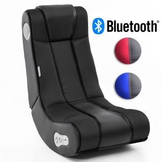 WOHNLING® Soundchair InGamer mit Bluetooth | Musiksessel mit eingebauten Lautsprechern | Multimediasessel für Gamer | 2.1 Soundsystem - Subwoofer | Music Gaming Sessel Rocker Chair