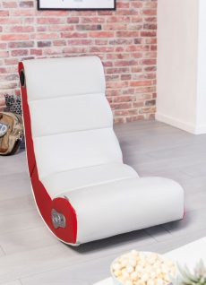 Wohnling 174 Soundchair Wobble In Wei 223 Rot Mit Bluetooth