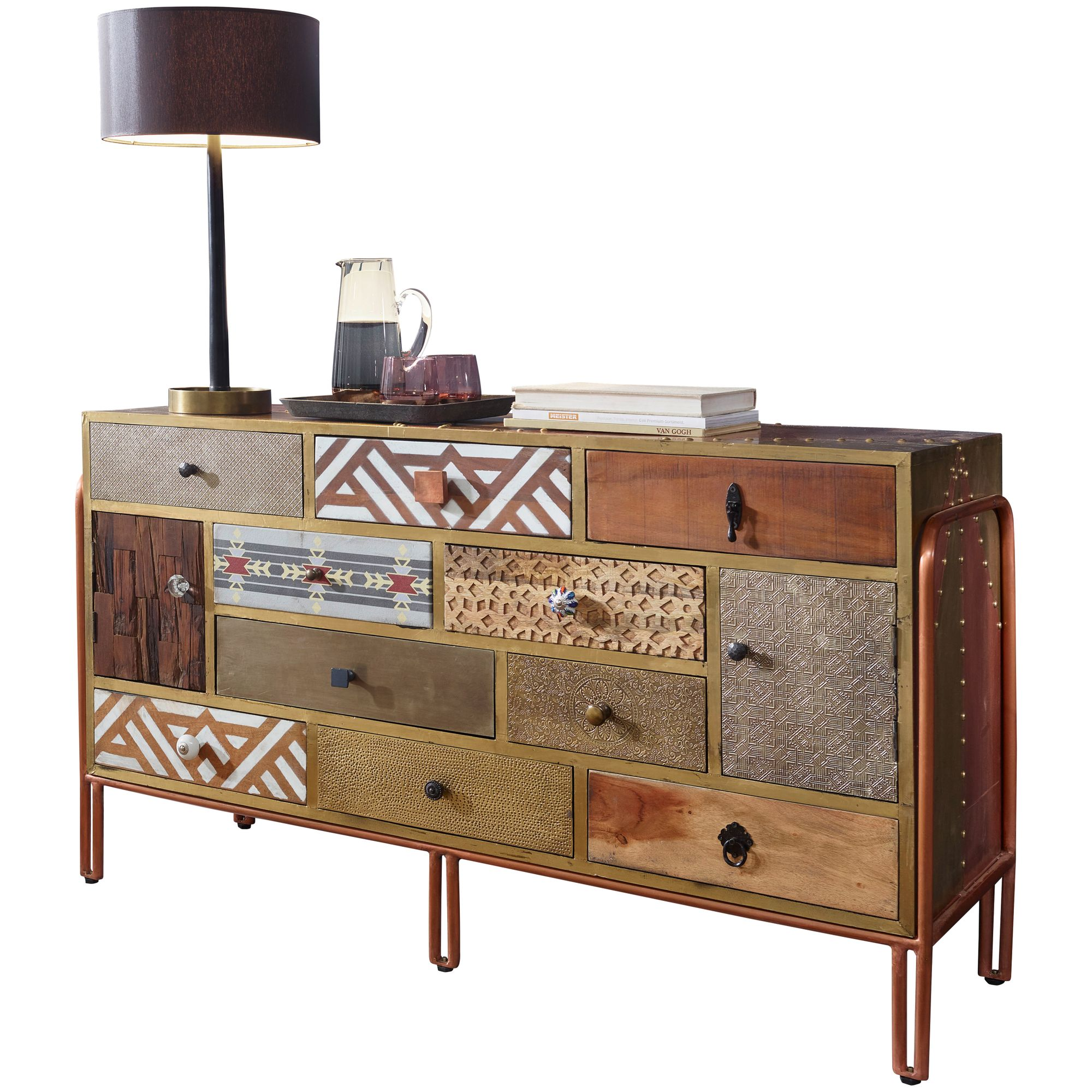 Finebuy Sideboard Finley 137x81x45 Cm Metall Anrichte Industrial