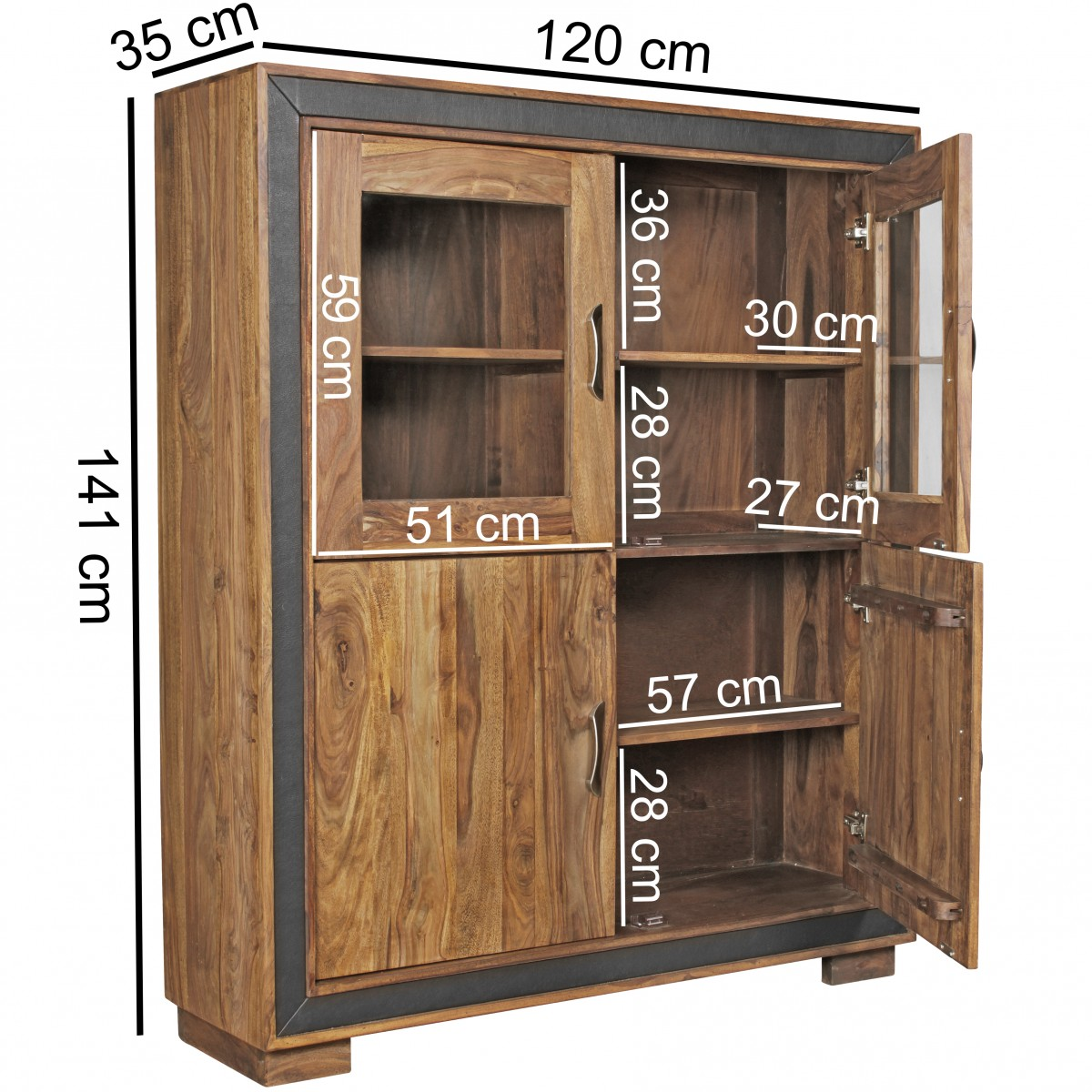 massivholz vitrine excellent toskana vitrine glasvitrine trig pinie massiv massivholz mit. Black Bedroom Furniture Sets. Home Design Ideas