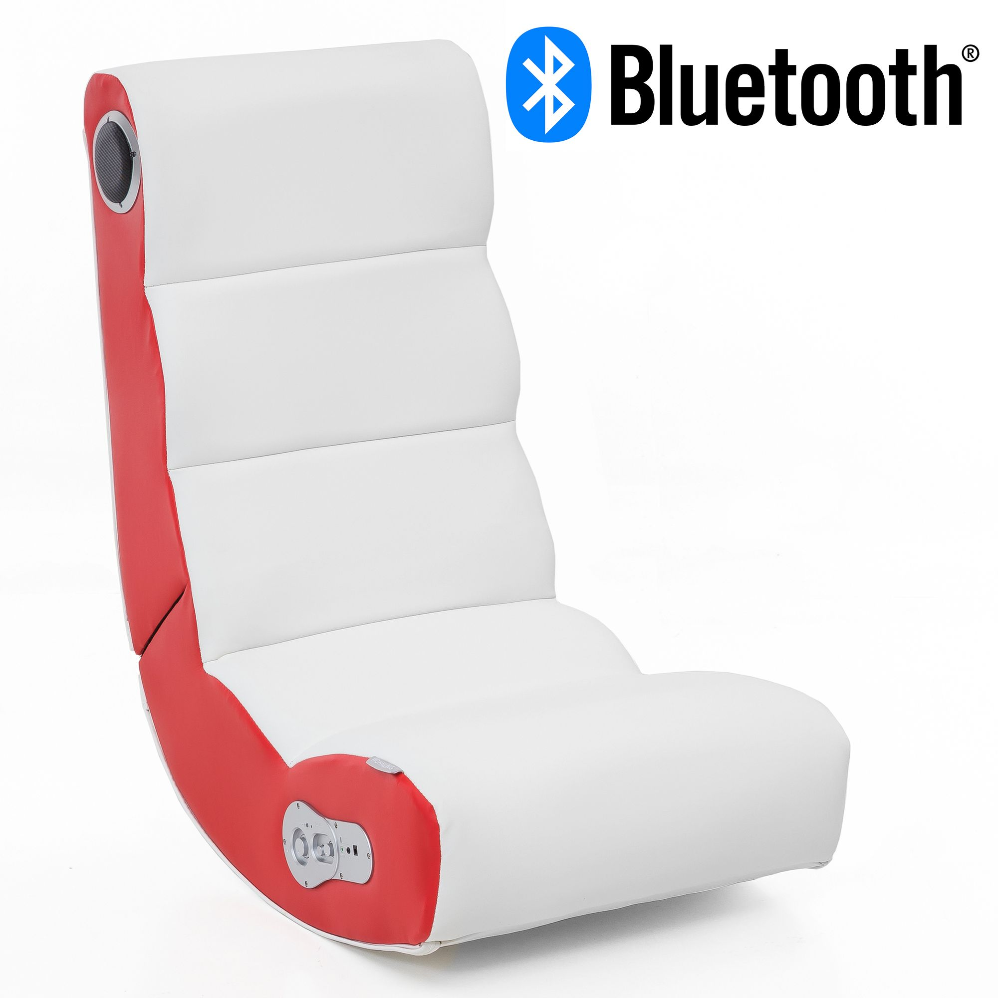 Wohnling Soundchair Wobble In Weiß Rot Mit Bluetooth Musiksessel