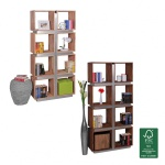 FineBuy Bücherregal Massivholz 180 x 85 x 30 cm Design Raumteiler hohes Regal Holz Landhaus-Stil Regalsystem