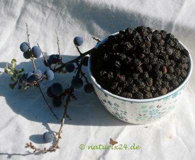 Naturix24 Schlehdornfrüchte ganz 500 g