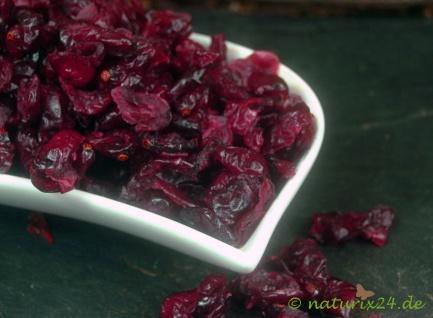 Naturix24 Cranberries, Kranichbeeren mit Ananassaft gesüßt 1 kg
